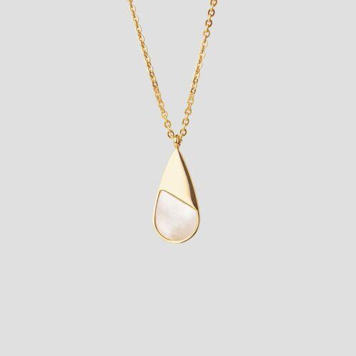Emulsify Halskette (Weißes Perlmutt/Gold)