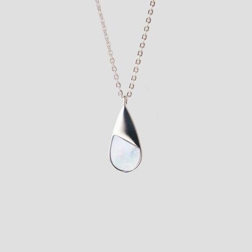 Emulsify Halskette (Blaues Perlmutt/Silber)