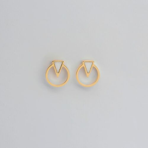 Focus Ohrringe (Marmor/Gold)