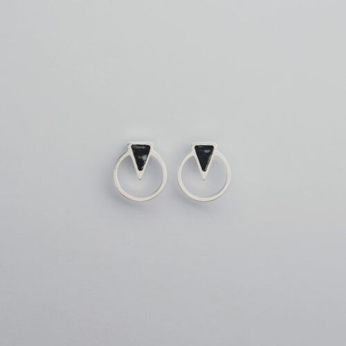 Focus Ohrringe (Marmor/Silber)