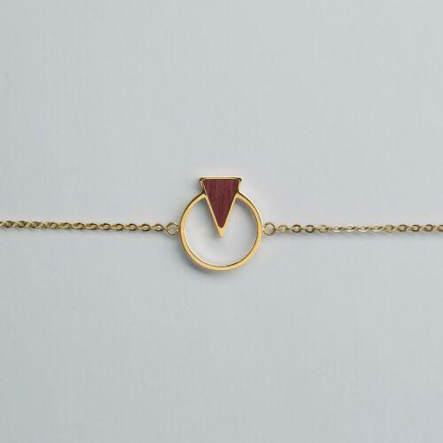 Focus Armband (Amaranth/Gold)