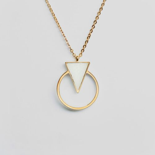 Focus Halskette (Marmor/Gold)