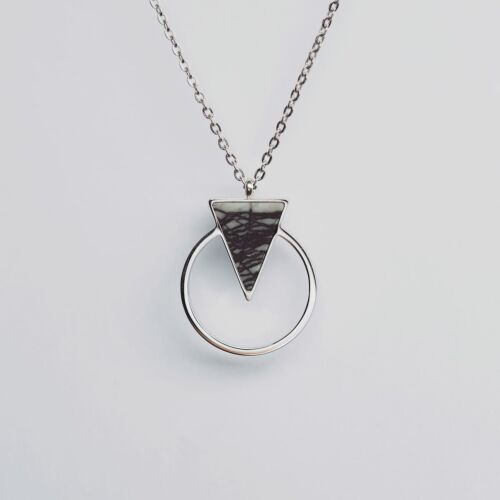 Focus Halskette (Marmor/Silber)