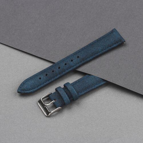 Strap Eric 18mm Vegan (Bleu/Argent)