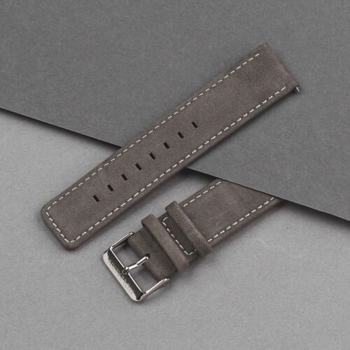 Strap Robin 22mm (Dunkelgrau/Silber)