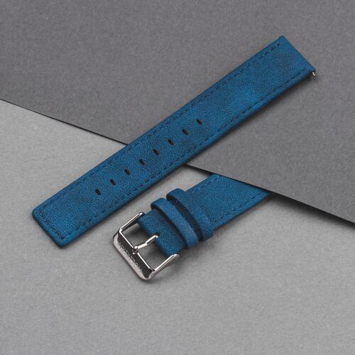 Strap Paul 20mm Vegan (Bleu/Argent)