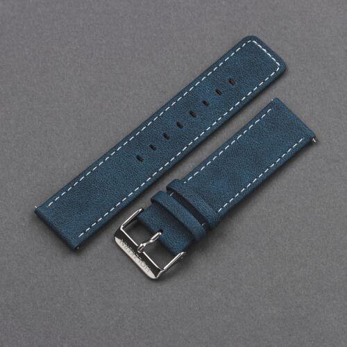 Strap Robin 22mm Vegan (Bleu/Argent)