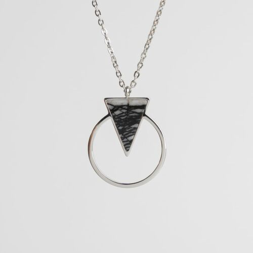 Focus Necklace (Marble/Silver)