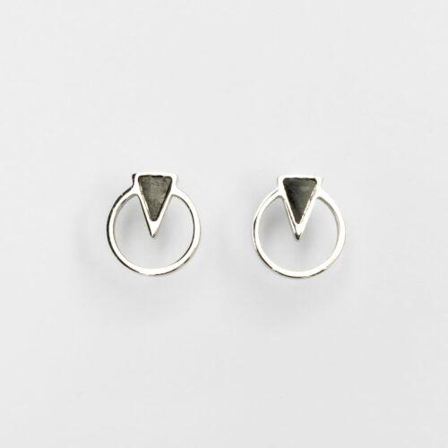 Focus Earrings (Marble/Silver)