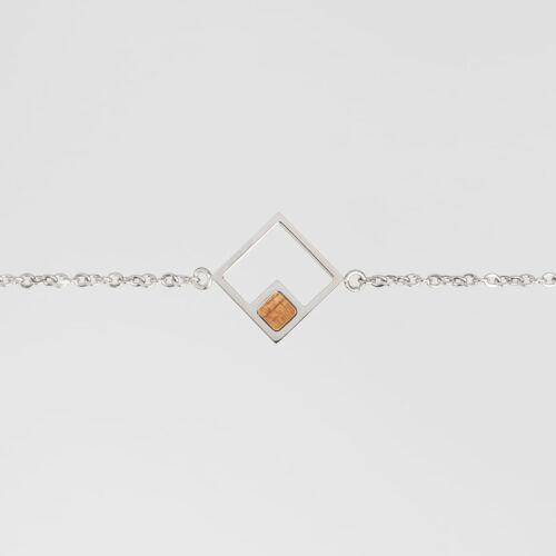 Geometric Armband (Koa/Silber)