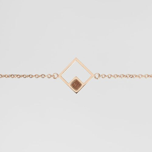 Bracelet Geometric (Noyer/Or rose)