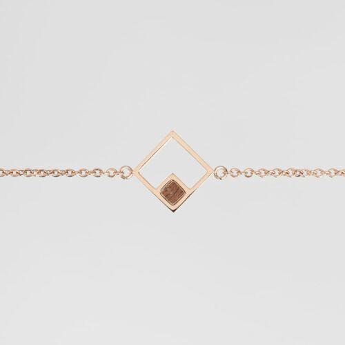Geometric Armband (Walnuss/Rosé)