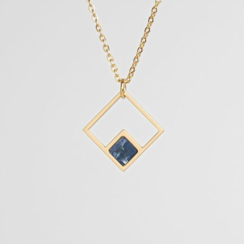 Collier Geometric (Marbre/Or)