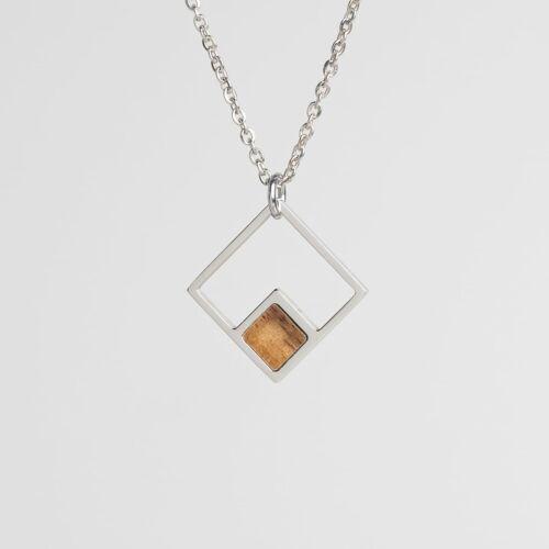 Geometric Halskette (Koa/Silber)