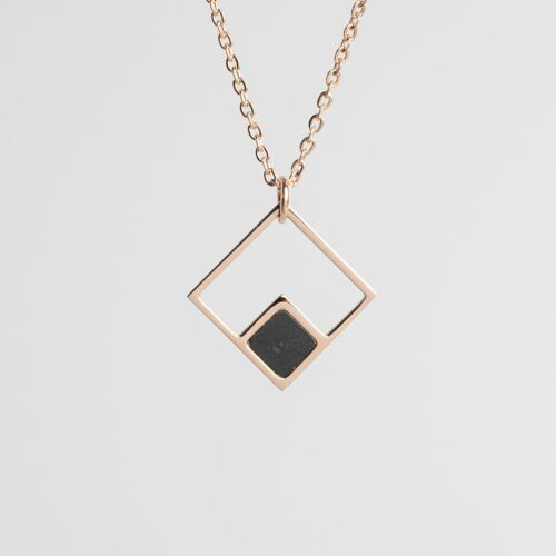 Collier Geometric (Marbre/Or rose)