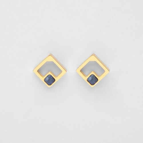 Geometric Ohrringe (Marmor/Gold)