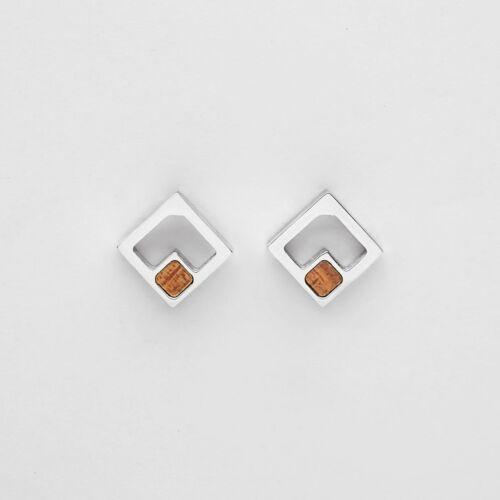 Geometric Ohrringe (Koa/Silber)
