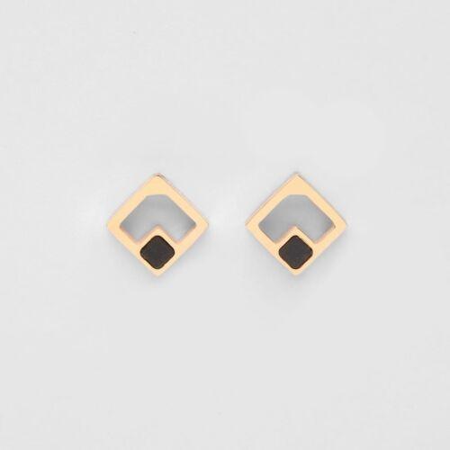 Geometric Ohrringe (Marmor/Rosé)