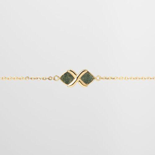 Mosaic Armband (Schiefer/Gold)