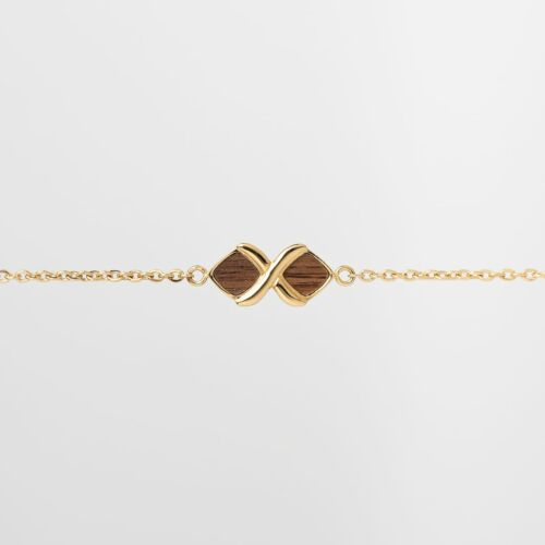Mosaic Armband (Walnuss/Gold)