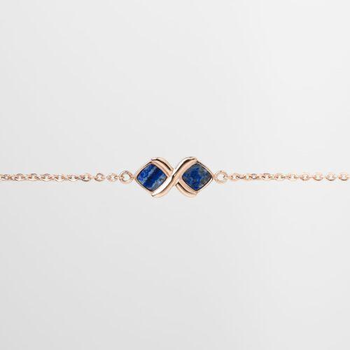 Bracelet Mosaic (Lapis lazuli/Or rose)