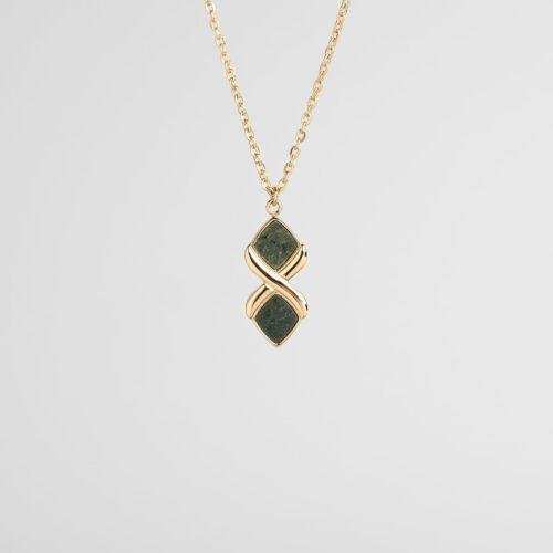 Mosaic Halskette (Schiefer/Gold)
