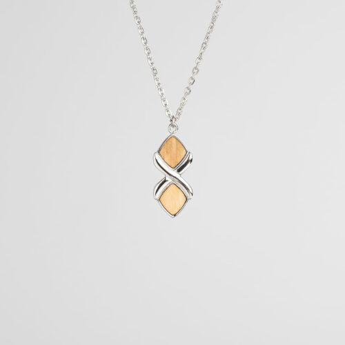 Mosaic Halskette (Olive/Silber)