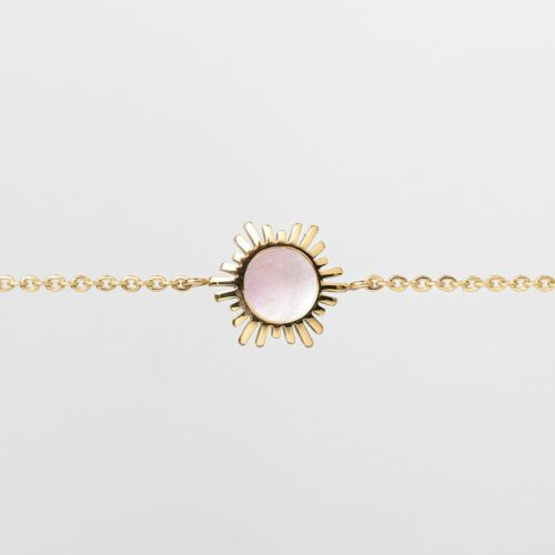 Shade Armband (Rosa Perlmutt/Gold)