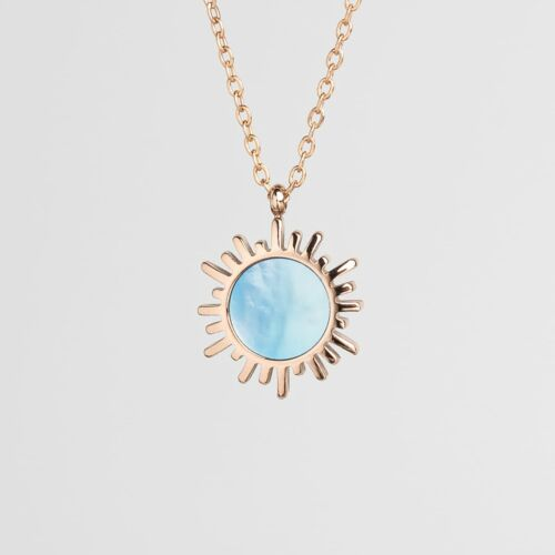 Shade Halskette (Blaues Perlmutt/Rosé)