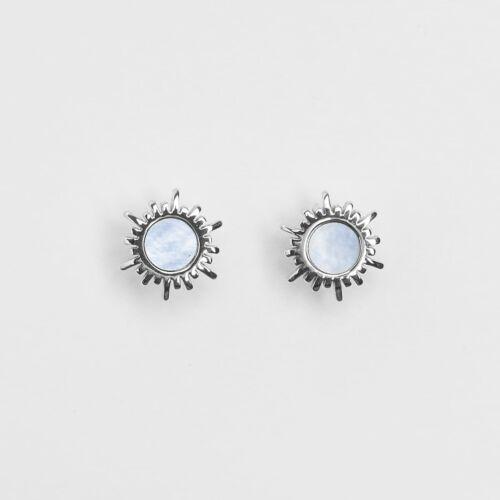 Shade Earrings (Blue Nacre/Silver)