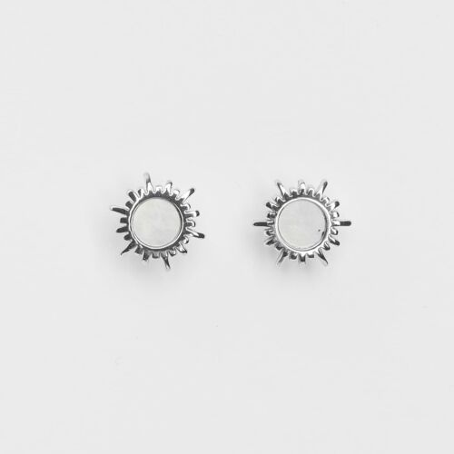 Shade Ohrringe (Weißes Perlmutt/Silber)