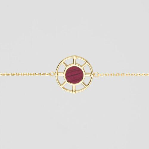 Pulsera Amulet (Amaranto/Oro)