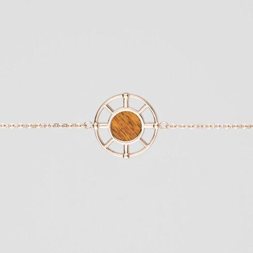 Pulsera Amulet (Koa/Oro rosa)