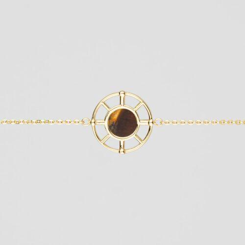 Pulsera Amulet (Ojo de tigre/Oro)