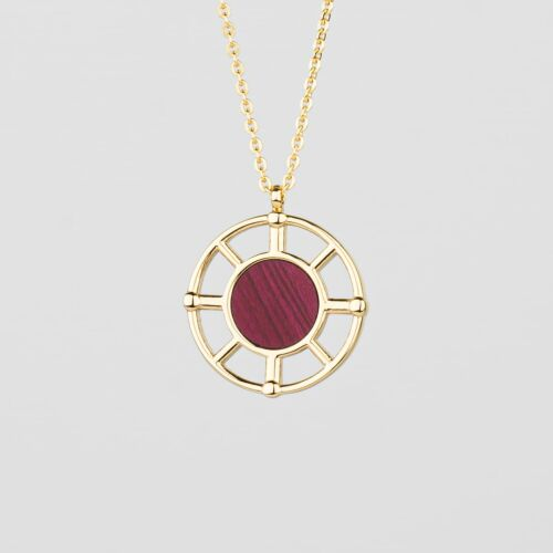 Collar Amulet (Amaranto/Oro)