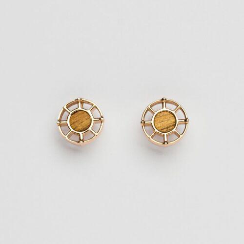Amulett Ohrringe (Koa/Rosé)