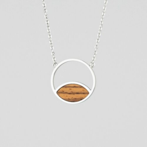 Perception Halskette (Zebrano/Silber)