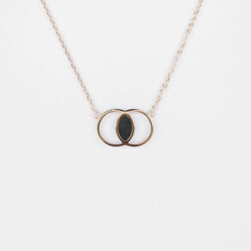 Effigies Halskette (Marmor/Gold)