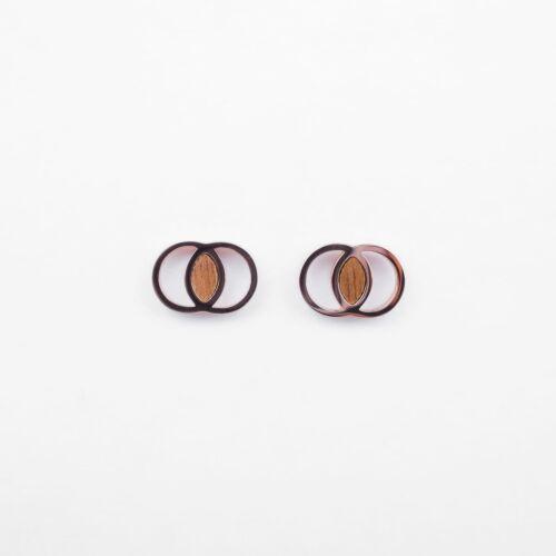 Effigy Earrings (Walnut/Rose Gold)