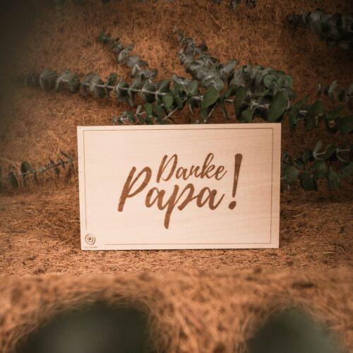 Holzpostkarte Danke Papa