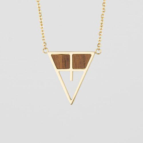 Chiaroscuro Halskette (Walnuss/Gold)
