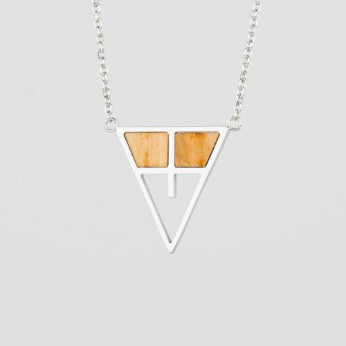 Chiaroscuro Halskette (Olive/Silber)