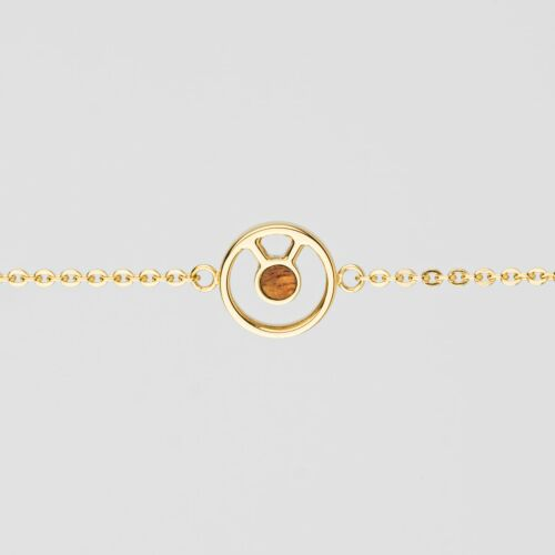 Concentric Armband (Marmorholz/Gold)