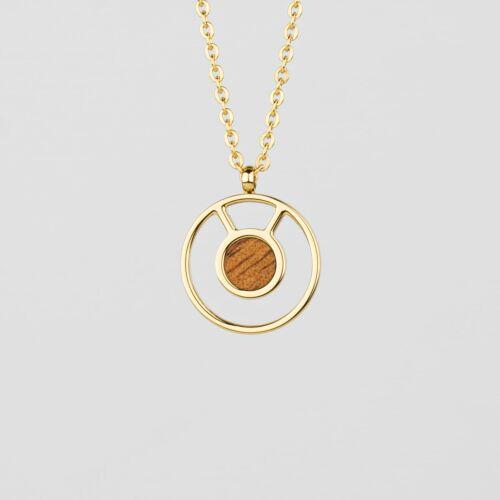 Concentric Halskette (Marmorholz/Gold)