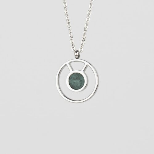 Concentric Halskette (Marmor/Silber)