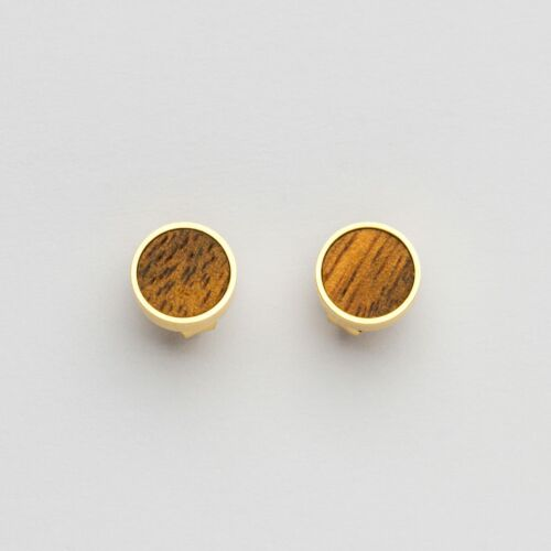 Concentric Ohrringe (Marmorholz/Gold)