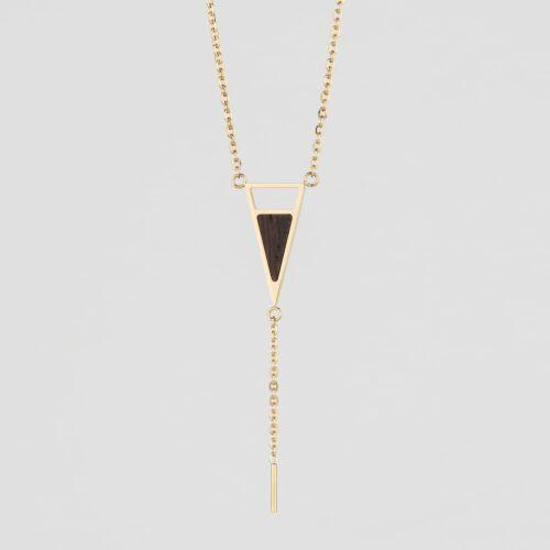 Ink Halskette (Wenge/Gold)