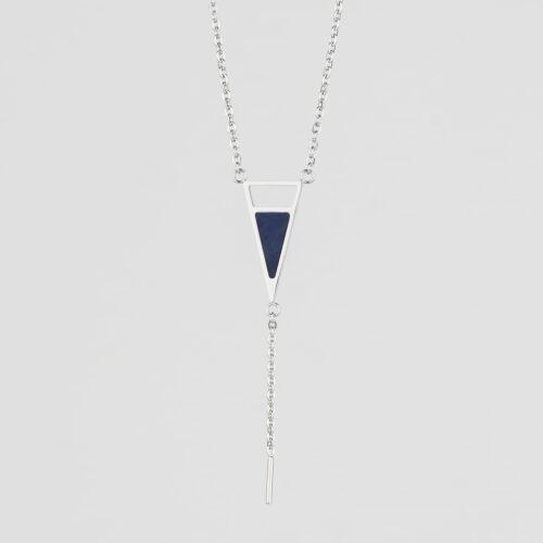 Ink Halskette (Marmor/Silber)
