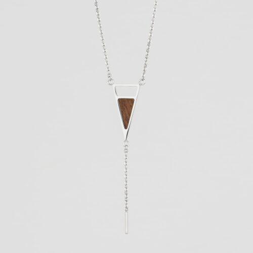 Ink Halskette (Walnuss/Silber)