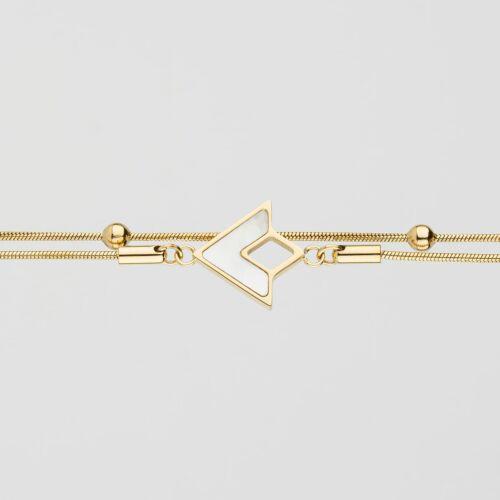 Bracelet Conceptual (Nacre blanche/Or)
